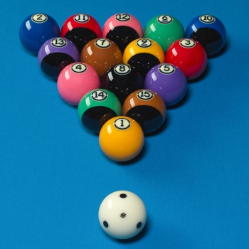 Kugeln Pool 57,2mm Tournament Black Duramith TV
