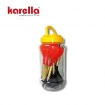 Softdart Box 9 + 9 schwarz / rot PVC, Messing  2 BA