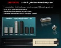 Universal Cue-Gewichtsschrauben - Set