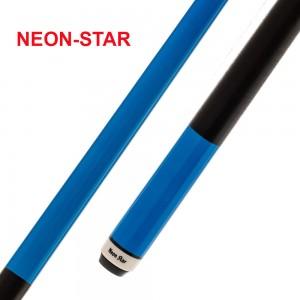 Pool-Cue Neon-Star blau