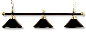Billardlampe London schwarz 3 x schwarz