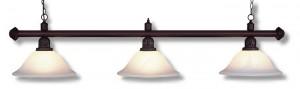 "Billardlampe ""Nizza"" antik-braun 3 x Glas"