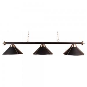 Billardlampe London Deluxe 3 x Kunstleder schwarz
