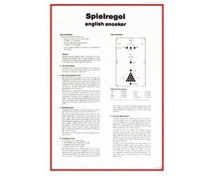 Spielregel-Poster Snooker