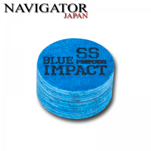 Navigator Blue Impact Pool Cue Tip 14mm