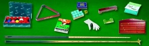 Zubehör Set für Snooker Tische