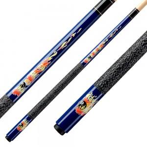 Kinder Pool-Cue Flames blau, 123cm