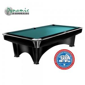 Pool-Billardtisch Dynamic III 9ft. Matt-schwarz