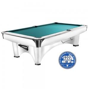 Pool-Billardtisch Dynamic III 8 + 9ft. glänzend-weiss