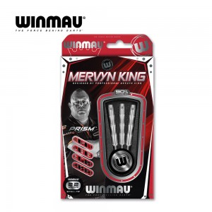 Steeldart Winmau Mervyn King Silver Colour 1071-22g
