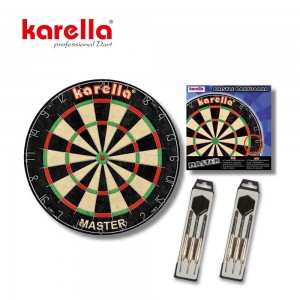 Dartboard Karella Set, Board + 2 Set Steeldart ST-1
