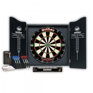 Dartboard/Cabinet-Set Winmau Professional inkl. Zubehör